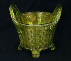 Bushel Basket - lime green