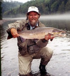 Dale Darling with Quebec Salmon