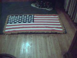 American Flag Afghan - View 3
