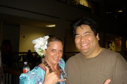 Kumu Manu with Barry Kimokeo, one of Hawai?i?s most prominent guitarists.
