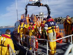 Exercise with Salcombe Lifeboat