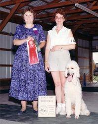 Teddy winning Novice B second place.  7/15/95.
