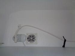 Shower fan inside