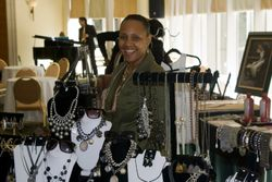 Vendors sell jewelry and gifts