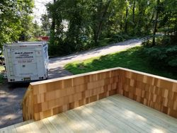 12' X 14' Pressuer Treated Deck With Cedar Shake Walls - 3