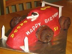 The Race Car Cake