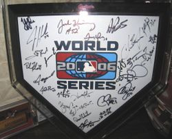 2006 Team Autographed Mini Home Plate
