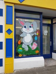 Easter bunny window painting