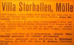 Villa Storhallen 1940