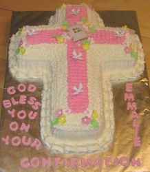 Confirmation Cross Cake