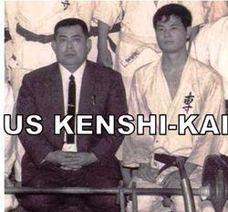 A young Hokama Tetsuhiro with Fukuchi Seiko