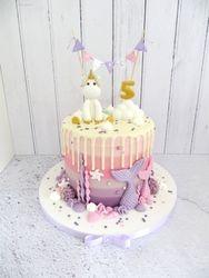 Unicorn and Mermaid Cake