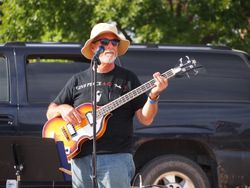 Dennis, his Rogue bass, and cool hat