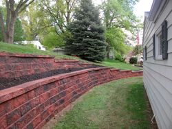 Red/Black blend terrace wall