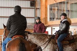Jeff instructing riders