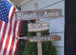 Wedding directional signs
