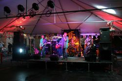 Band under  a Tent