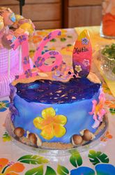 Hawaiian 16th Birthday Cake