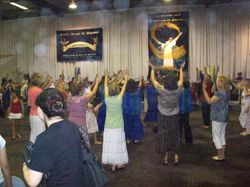 orbs appear during Kira Mitchell Revival Meetings
