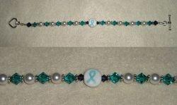 Cervical Cancer Awareness Bracelet (Item #2001)  $20.00
