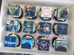 UK Denim Hang personalised cupcakes