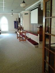 Sanctuary from Fellowship Hall entrance