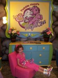 Haley relaxing at the La-Ti-Da Spa