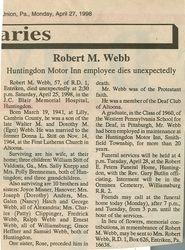 Webb, Robert M. 1998