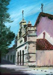 San Antonio Mission (oil original)