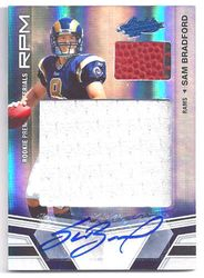 2010 Absolute Sam Bradford RC Jersey Ball Auto #d 08/10