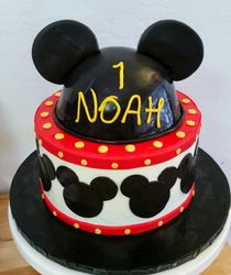 Mickey Mouse Cake - 2 tier