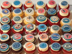 NFL logo Cupcakes