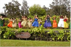 Hula on the alter at Kilauea - for Pele