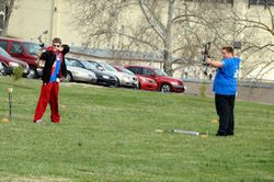 Archery competition at Convention