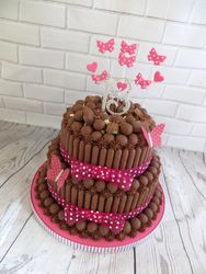 Two tier 13th birthday malteser cake