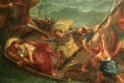 Delacroix, Christ in the Sea of Galilee, detail, Walters Art Gallery