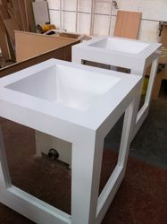 Mirror planters for exebition stand