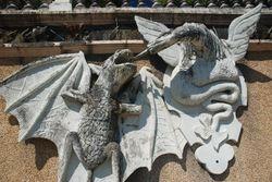 A sculpture in the Betanzos El Pasatiempo gardens