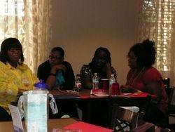 Valarie, Denise, Anna and Telisha share words