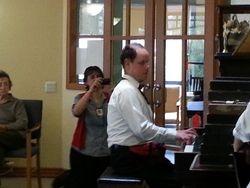 Alan playing the piano at Dianella