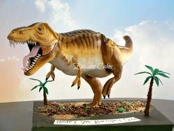 Gravity Defying Dinosaur-Tyrannosaurus cake