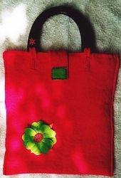 'Pink Fiesta'  felt bag