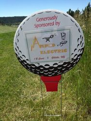 one of many hole sponsors