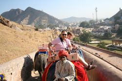 Elephant ride to Mann Singh's Fort, Jaipur