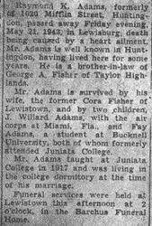 Adams, Raymond 1943