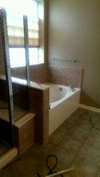 Bath tub Remodel Before...