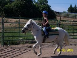 Hailey riding Pearl