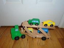 Melissa & Doug Car Carrier Truck & Cars Wooden Set - $12