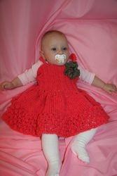 """I Love Pink"" Baby Dress"