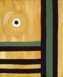 Black & Tan #47, Acrylic, 16x20, Original Sold